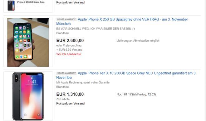 Wenn das iPhone X auf einmal 2.700 Euro kostet