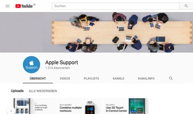Apple startet eigenen Support-Kanal auf YouTube mit Tipps & Tricks