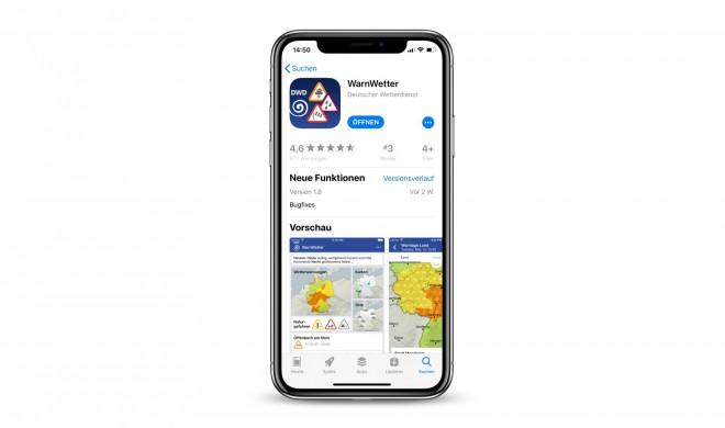 WarnWetter des Deutschen Wetterdienst nun mit optionalem In-App-Kauf