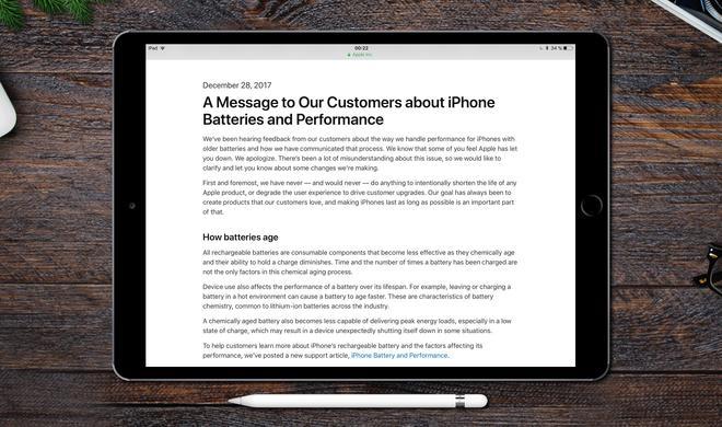 Akku-Gate: Apple richtet sich mit offenem Brief an enttäuschte Kunden