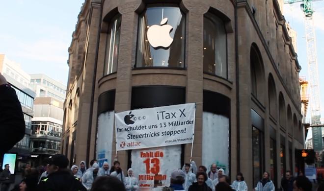 Apple klagt gegen Besetzung durch Attac-Aktivisten