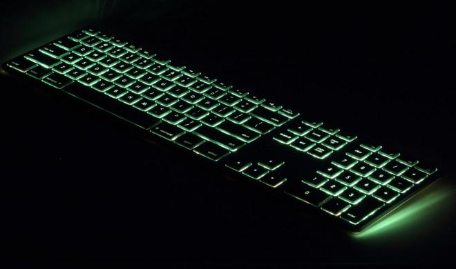 Leuchtende Apple-Tastatur von Matias