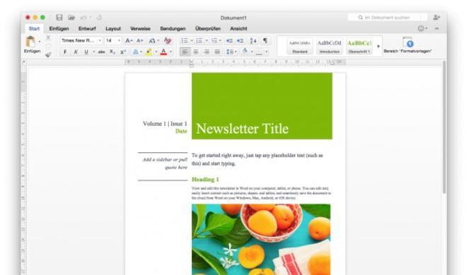 Office for Mac 16 erlaubt Teamarbeit in Echtzeit