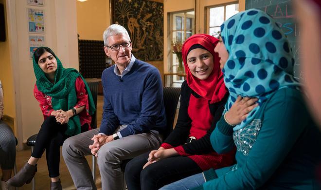 Apple arbeitet mit Friedensnobelpreisträgerin Malala Yousafzai zusammen