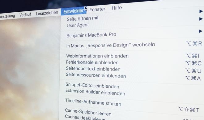 Safari am Mac: So aktivieren Sie das Entwicklermenü & seine coolen Funktionen