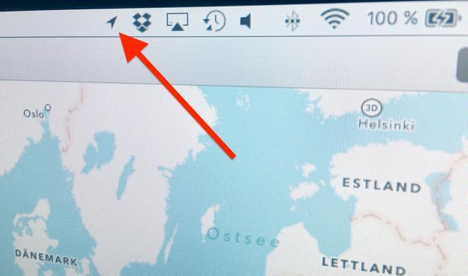 Wie am iPhone: So blenden Sie das Ortungssymbol auch am Mac ein
