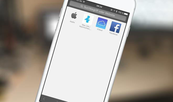 """Sie deaktivieren Sie """"Häufig besuchte Websites"""" in Safari am iPhone"""
