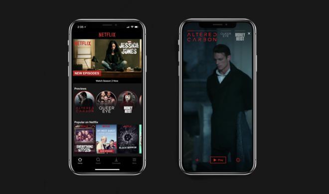 Netflix integriert Vorschaumodus im Hochformat