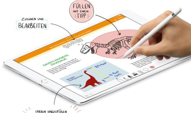 Apple-Pencil-Support für Pages, Numbers und Keynote