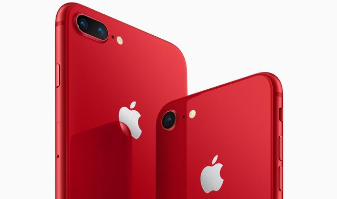 Apple bringt iPhone 8 und iPhone 8 Plus (PRODUCT)RED