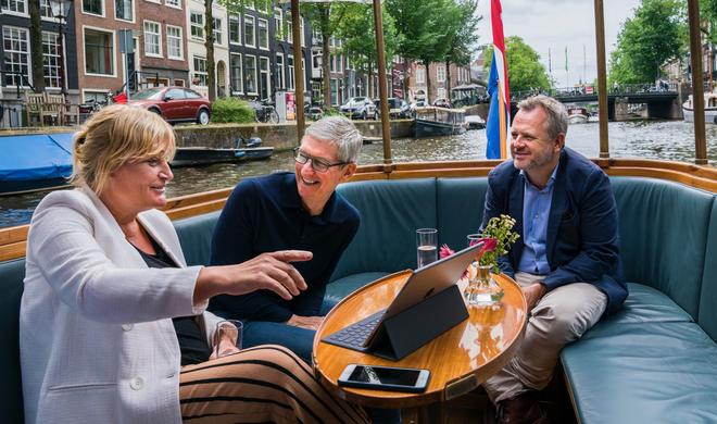 Apple-CEO Tim Cook traf sich in Amsterdam mit iPhone-Fotografin