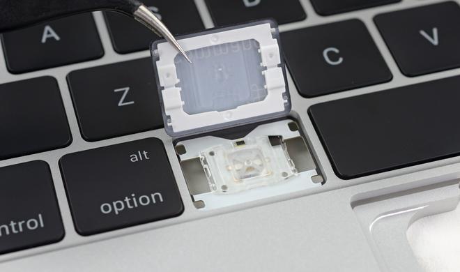 Macbook-Pro-Tastatur macht Austausch defekter Tasten unmöglich