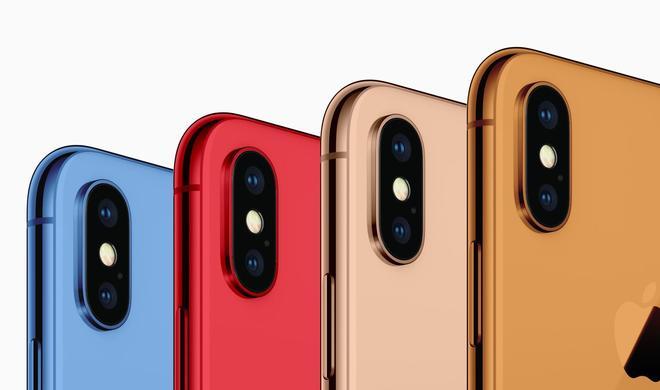 iPhone-2018-Modelle erscheinen in neuen Farben: blau, rot und orange