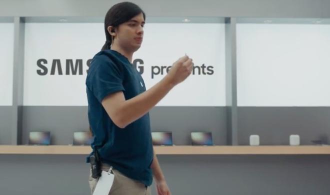 Samsung macht sich über das iPhone X lustig