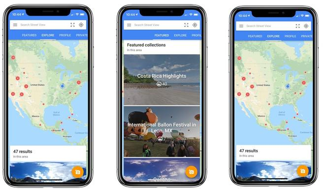 Google Streetview für iPhone X angepasst