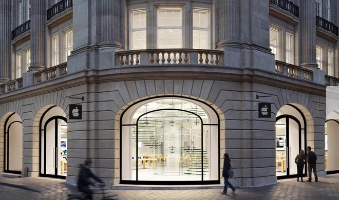 Apple Store in Amsterdam evakuiert