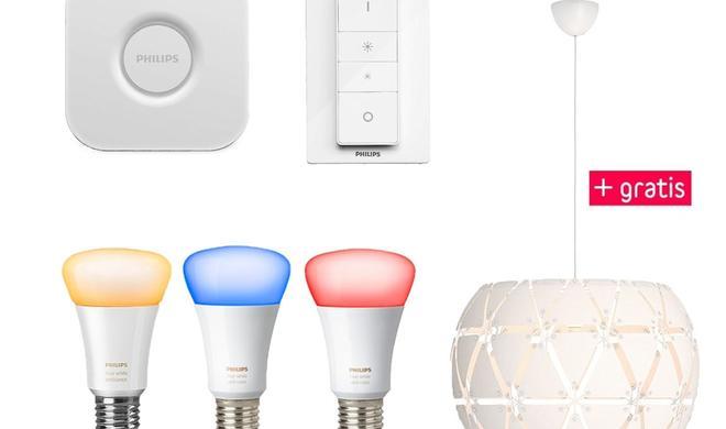 Sparen beim Kauf von Paketen mit Philips Hue Smart-Home-Produkten
