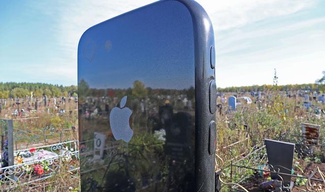 Apple-Liebe bis in den Tod? iPhone als Grabstein bei junger Russin