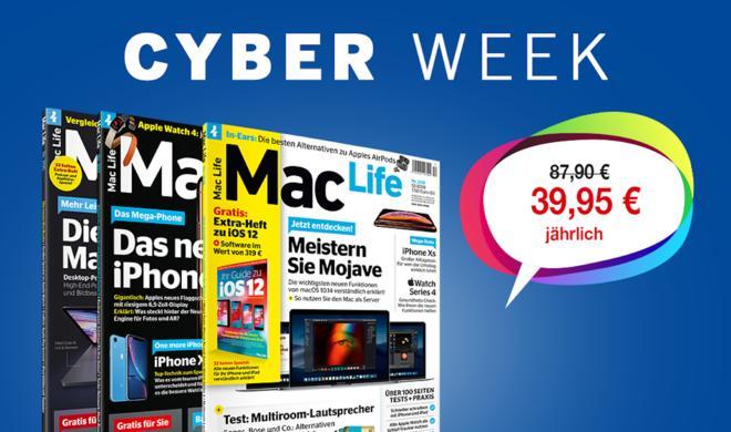 Zeitlich begrenzt: Mac Life und weitere Top-Magazine im Cyber-Week-Sale
