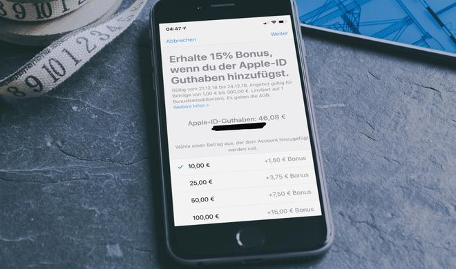 Bei Apple direkt: iTunes-Guthaben mit bis zu 15% Bonusguthaben aufladen