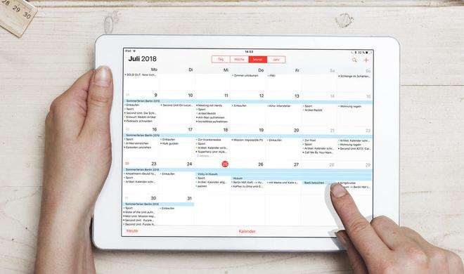 Das iPad als Kalender – so geht's