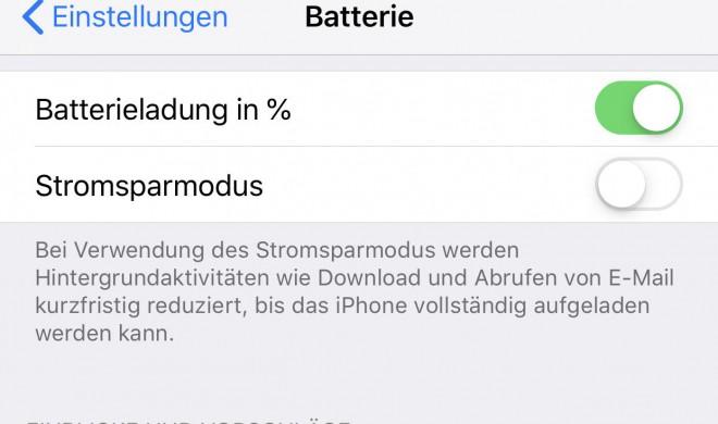 Stromverbrauch unter Kontrolle in iOS 12
