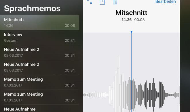 Sprachnotizen mit Flexibilität in iOS 12