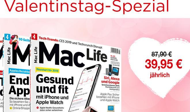 Nur zum Valentinstag: 55 Prozent Rabatt auf das Mac-Life-Jahresabo