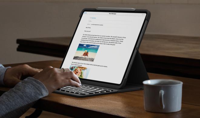 Logitech Slim Folio Pro: Beleuchtetes Keyboard für das iPad Pro