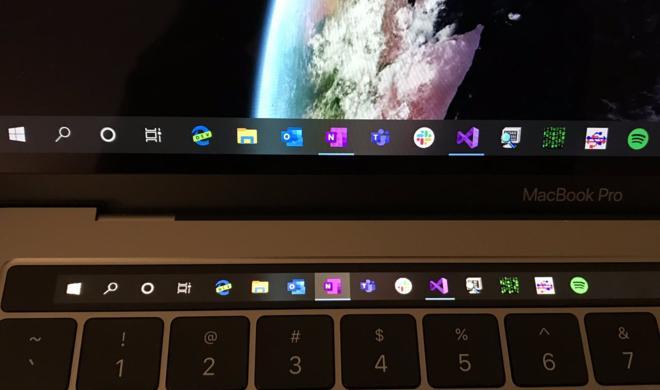 So lässt sich die Touch Bar unter Windows 10 nutzen