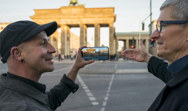 MauAR App zeigt die Berliner Mauer auf dem iPhone