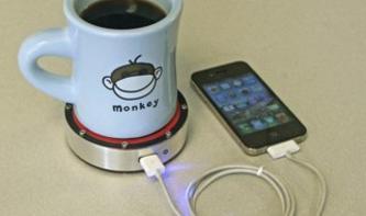 onE Puck: Heißer Kaffee lädt das iPhone auf