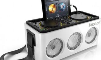 M1X-DJ - DJ-Controller, iPad-Dock und Boombox