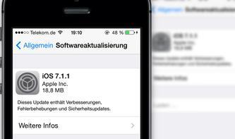 Apple veröffentlicht iOS 7.1.1 mit Touch-ID-Verbesserungen und mehr