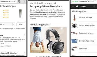 Thomann macht mobil - Neue Webseite für Tablets & Co.