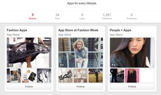 Pinterest führt App pins in iOS-App ein