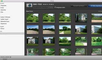 OS X Yosemite: Fotos von Kamera importieren