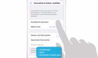 iOS 8 Video-Tipp: Passwörter in Safari abspeichern – so geht's