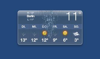 Wetter-Widget in OS X dreht durch