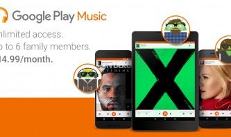 Google Play Music führt neuen Tarif für Familien ein