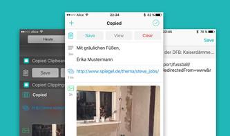 App-Tipp: Copied, die Zwischenablage mit System