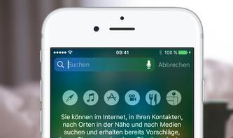 iOS 10: Jetzt können Sie überall Suchanfragen starten