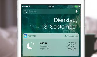 iOS 10: So einfach lassen sich Widgets am iPhone verwalten