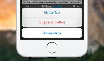 iOS 10: So schließen Sie ganz schnell alle Tabs in Safari
