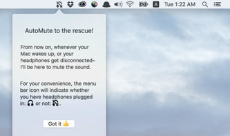 AutoMute macht Mac beim Abziehen von Kopfhörern still