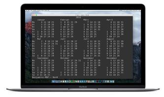 Terminal-Kalender: So rufen Sie den etwas anderen Kalender am Mac auf