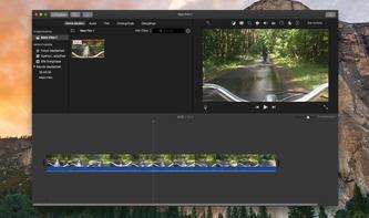 So wählen Sie den richtigen Bildausschnitt in iMovie am Mac