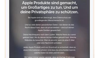 Apple und die Privatsphäre: So laden Sie Ihre Daten herunter